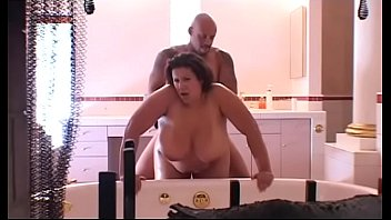 Black BBW slut Monet Staxxx gets drilled hardcore in the bathroom