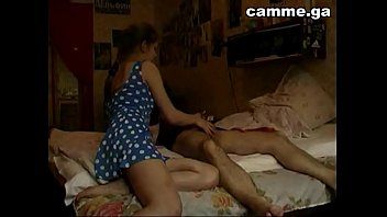 Russian girl Ira plays with her dad camme.ga