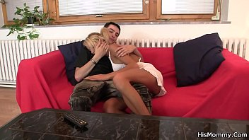 His blonde GF licks and fucks old pussy
