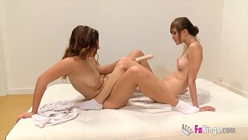 Sex and schoolgirls! Ainara teaches her hot young friend Judith about lesbian dildo sex thumbnail