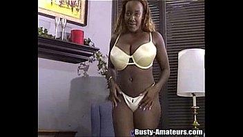 Ebony babe Sierra is feeding her hungry pussy