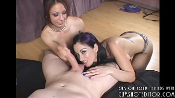 Two Young Latinas Love Biting On Cock And Balls P2