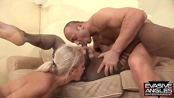 EVASIVE ANGLES White cock and black dick going in and out of every hole possible, as the couple truly enjoys their well-hung black third.