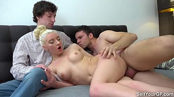 Sell Your GF - Hubby watches young wife Angelika Cristal fuck