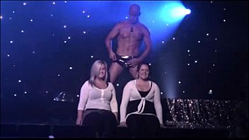 Male strippers cuming on stage - Two amateur girls with a stripper