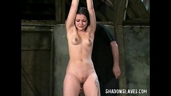 Vintage pixies Teen slave pixies bondage and whipping to tears in the old barn