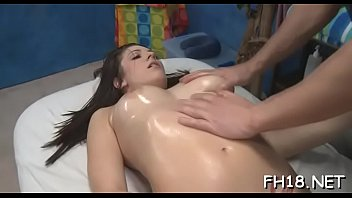 Hot 18 girl gets fucked hard by her masseur