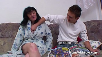 Busty Mother Fucking Son's Cock