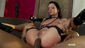 PrivateBlack.com - Thin Inked Destiny Has Interracial Orgy!