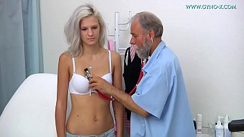 Doctor giving female breast exam video Barbara - 24 years old girl gyno exam