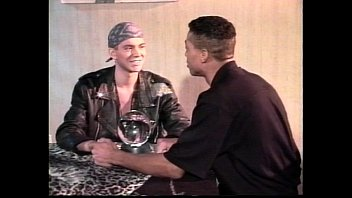 Leather gay dating Vca gay - black leather white studs - scene 5