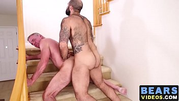 Gay male dale mccurry - Voluptuous bear pumps raw cock deep and hard into asshole