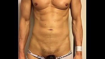 Jack off for gays over webcam - Hardon bulging out of my jockstrap and underwear waiting to be teased