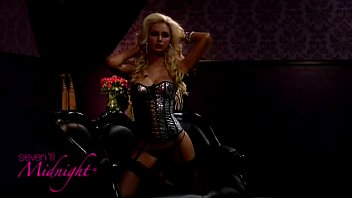 Mesh Leopard Foil Print Corset And Thong(iphone)