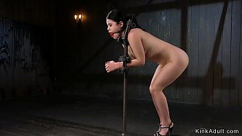 Metal neck bondage galleries - Babe locked in metal device bondage