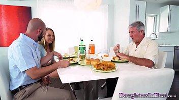 Cock Addict Daughter Fucks Dad's Friend At Lunch Invite