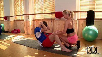 A person of no sex Sexy blonde trainer kelly white gets a hardcore cock workout
