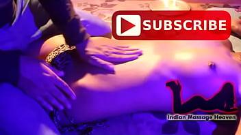 Sunita is getting breast massage by amit