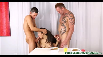 Hot Latina Teen Step Daughter Michelle Martinez Has Threesome With Step Dad And Step Brother