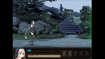 Pretty girl hentai having sex with male monsters in Chris Nightmare sex xxx game