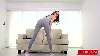 FIT18 - Natalia Nix - Tall Skinny Brunette Teen Comes In For Fitness Casting porno izle