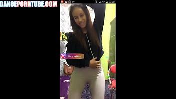 asian cam girl dancing in spandex
