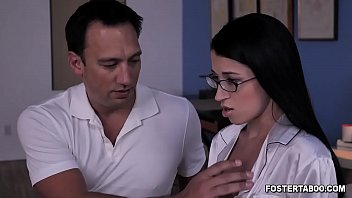 Nerdy foster teen Alex Coal gets a hot sex as a punishment with her foster dad after breaking some house rules.