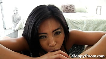 Ember Snow POV sloppy blowjob