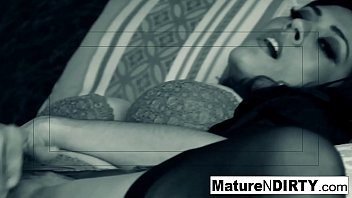 Brunette MILF secretly recorded masturbating and fucking