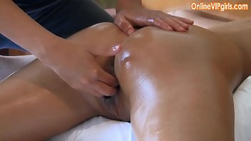 Innocent big ass brunette gets a fisting happy ending massage