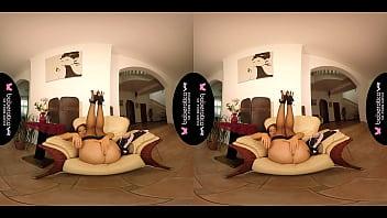 Solo Darling, Mila Fox Is Masturbating At Home, In VR