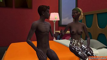 Ebony Teen Sister Fucking With Brother On A Very Hot Day