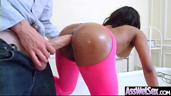 Big Ass Wet Oiled Girl (Kiki Minaj) Get Nailed Deep In Her Behind clip-19