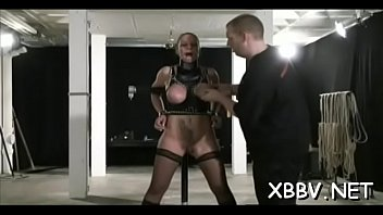 Enslaved breasty woman