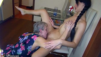 Lesbian grannie sex - Lesbian granny and nice woman masturbating together, water games