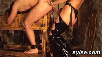 2 dominas, their slave and their strapons - amateur compilation