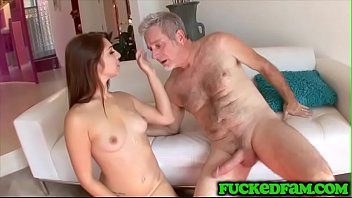 Tight Pussy Teen Makes Old Timer Stepdad So Happy He Could Die