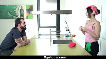 OyeLoca – Latina Cleaner Cleans House And Cock!