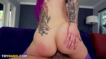 Purple Haired PAWG Step Sister Val Steele Fucked By Her Step Brother