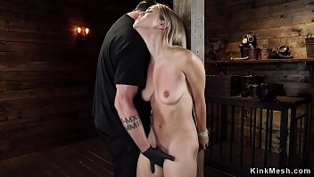 Blonde in upside down suspension hogtied Preview