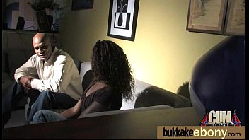 Naughty black wife gang banged by white friends 14