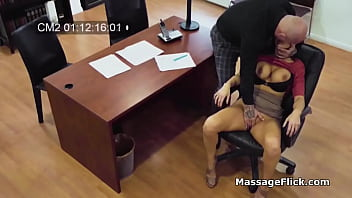 Big tit pleases bosses cock on office spy cam