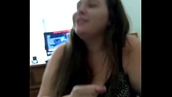 Interracial hand job - She can a dick but those hands handjob