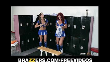 Big girl hot lesbian Two hot lesbian cheerleaders start an orgy in the locker room