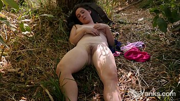 Busty Michelle Masturbating In The Nature Thumb