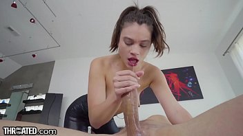 Throated - Teen's Beautiful Lips & Mouth Used To Worship Cock