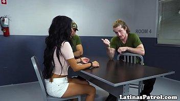 Real glam latina banged by border patrol