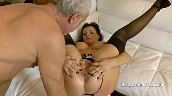 Dirty English MILF anal asslicking and gagging video