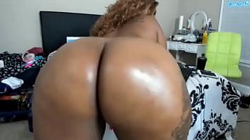 Queen Cherise wet shiny huge ass