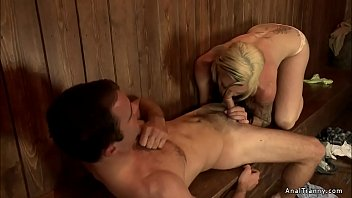 Transsexual before and after Busty shemale anal fucks bartender